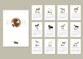 Hundesammlung Kalender Cover mit Cavalier König charles spaniel