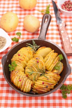 sweet potato with herb