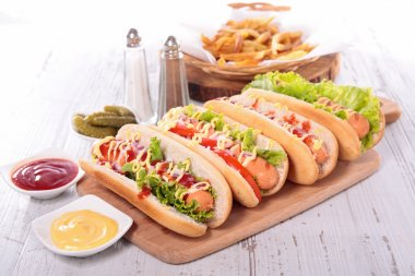 fresh hot dog