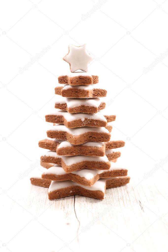 cookies on shape of fir tree