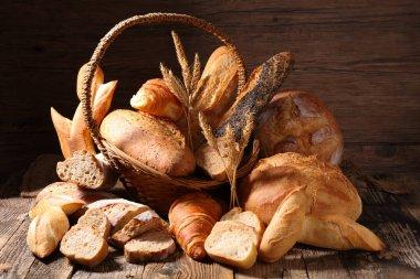 assorted bread in basket