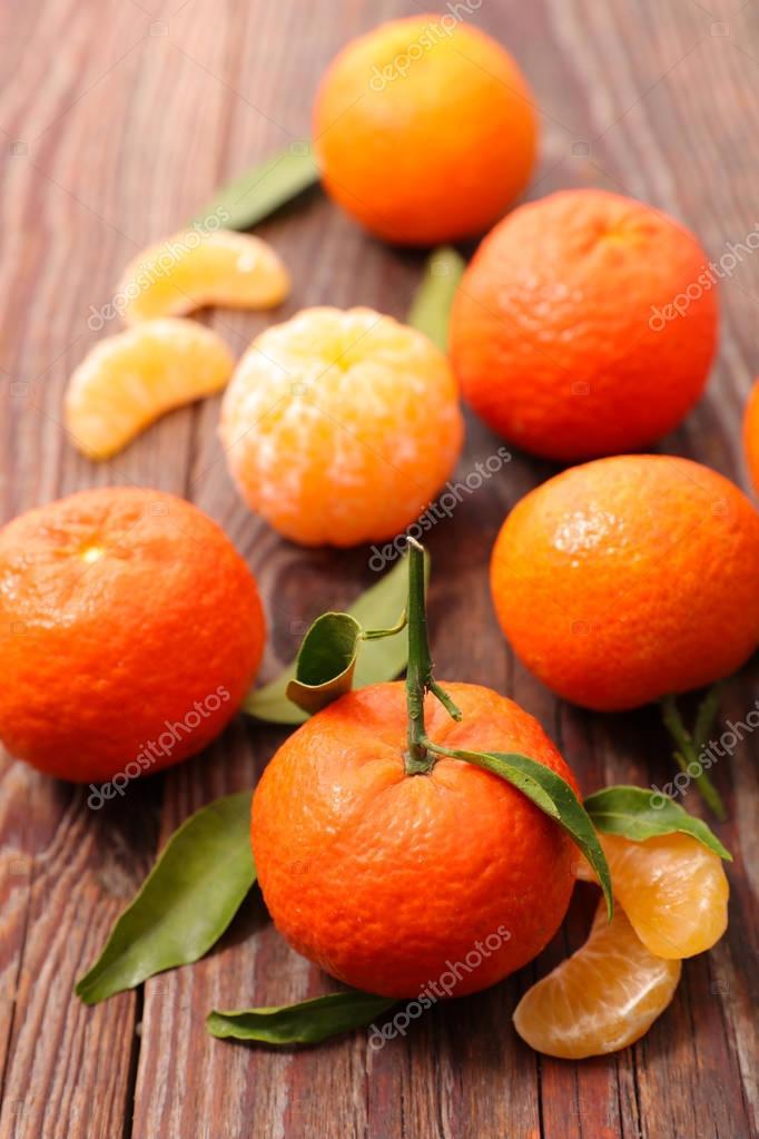 Ripe Mandarin fruit