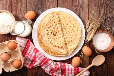 homemade pancakes on plate