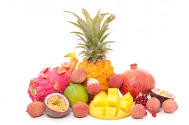 assorted tropical fruits
