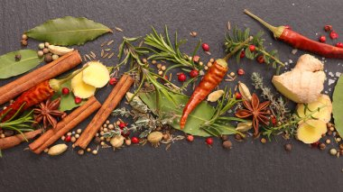 assorted spice and herbs