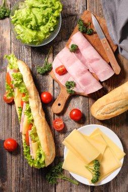 Fresh meat sandwich