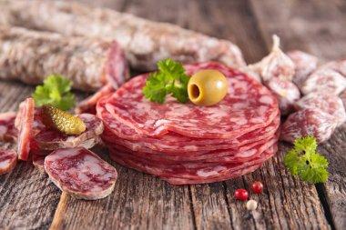 salami food close up