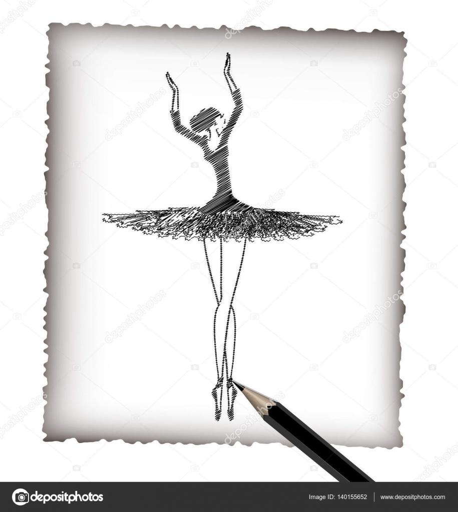 Dibujos Bailarinas A Lapiz Lápiz Y La Imagen Del Ballet Vector