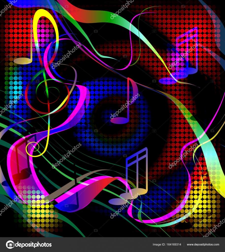 Farbbild verrückte Musik — Stockvektor © dankalilly #164169314