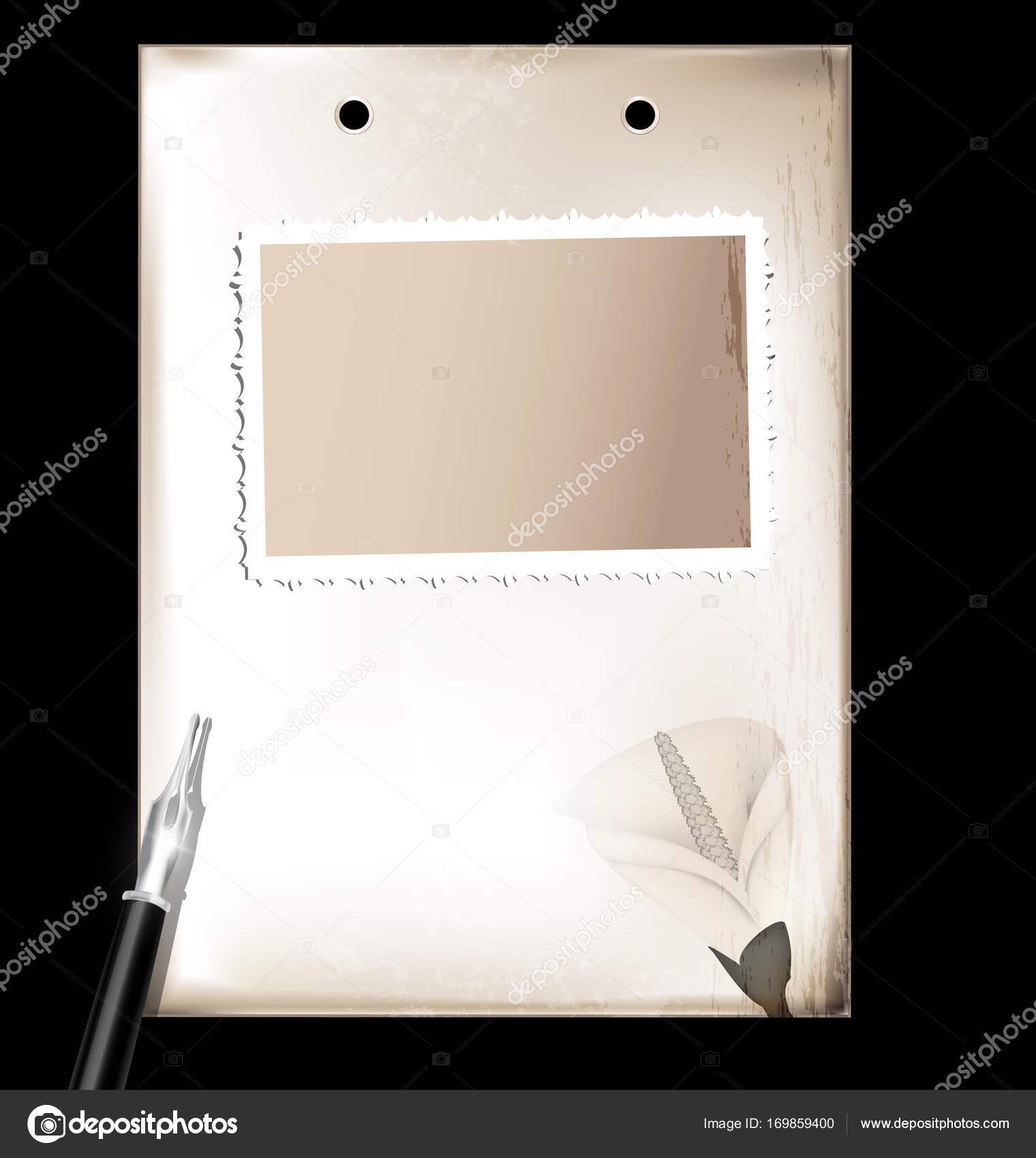 Vintage-Rahmen und Silberstift — Stockvektor © dankalilly #169859400