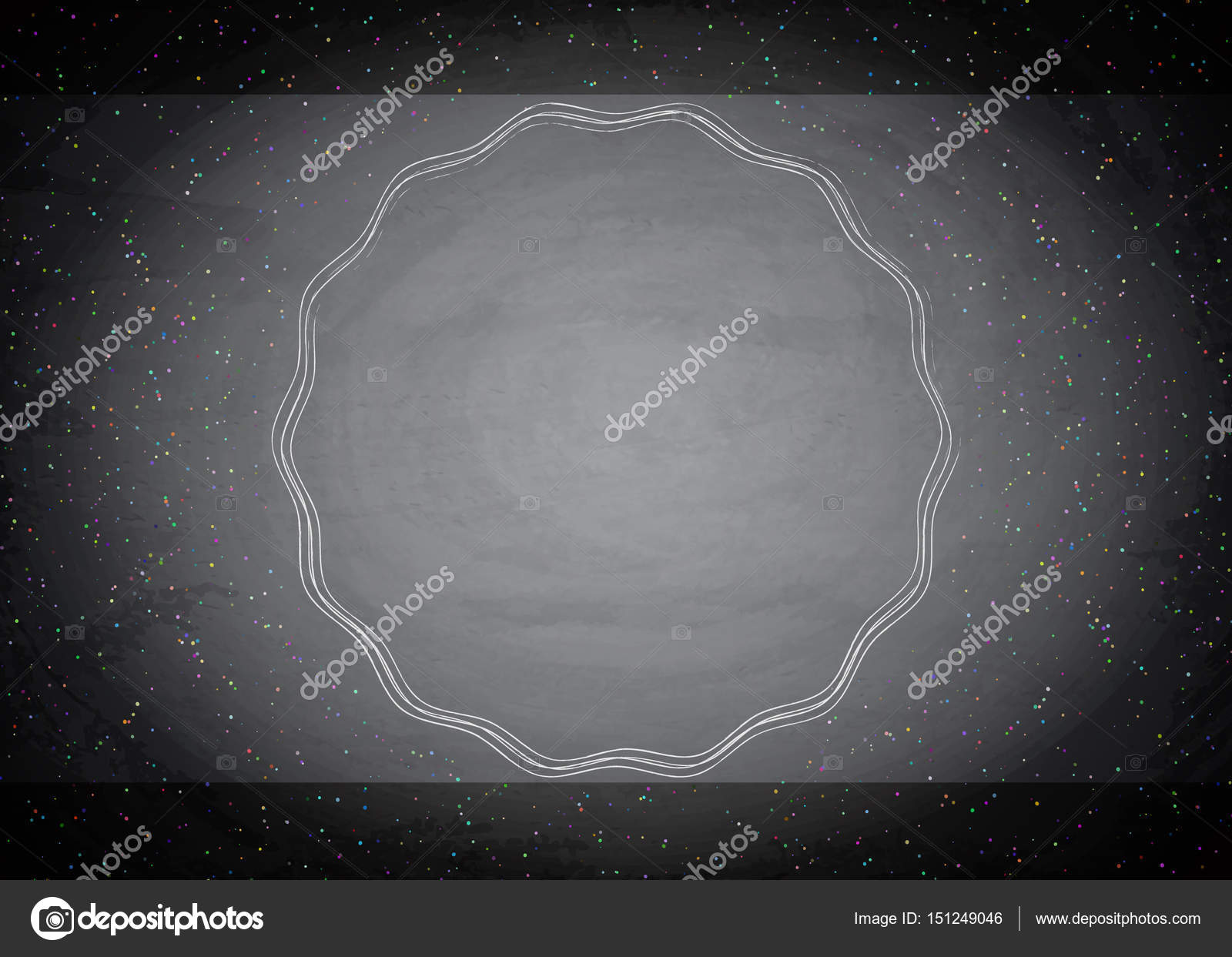 黒板黒板背景に空の境界線 \u2014 ストックベクタ