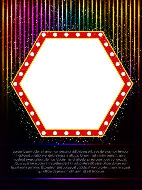 Poster Template with retro banner.  Design for presentation, con