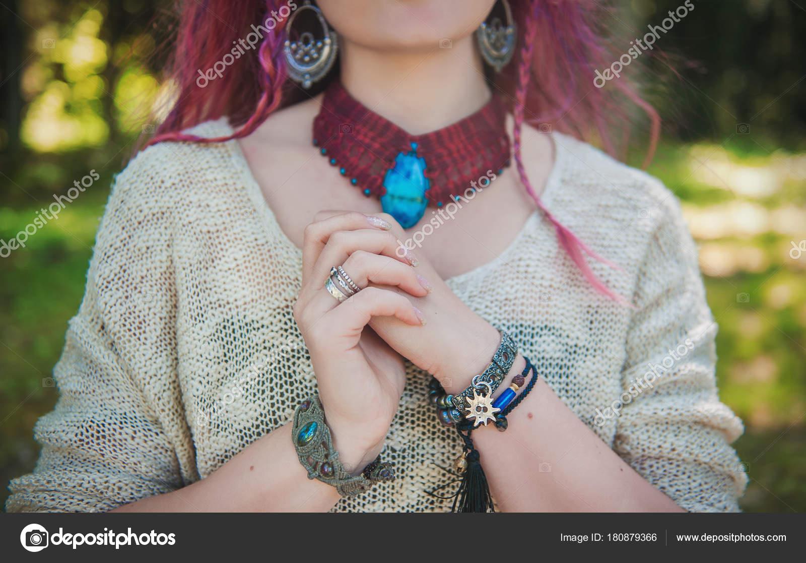 Gitan Boho Bracelets Collier Élégante Avec Style Femme Et En MLqVpzSUG