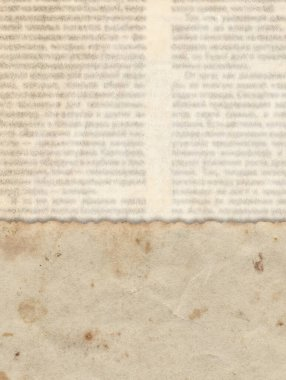 Vintage paper on the old newspaper texture background