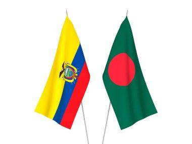 Ecuador and Bangladesh flags