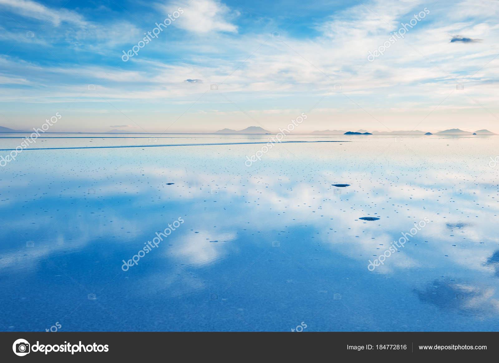 Salt Flat Salar De Uyuni Bolivia Stock Photo