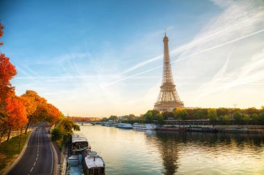 Cityscape with the Eiffel tower
