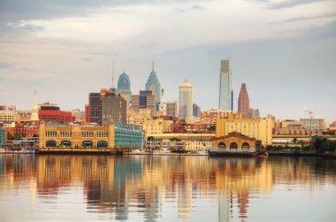 Philadelphia cityscape at sunrise