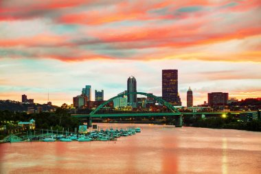 Pittsburgh cityscape with Ohio river