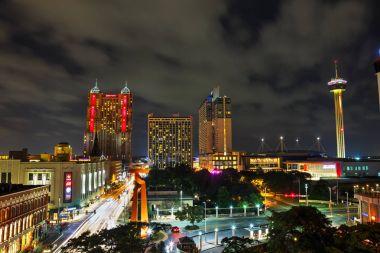 San Antonio aerial night view