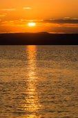 a Balaton gyönyörű naplemente