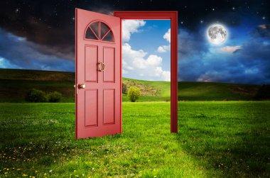 abstract open door
