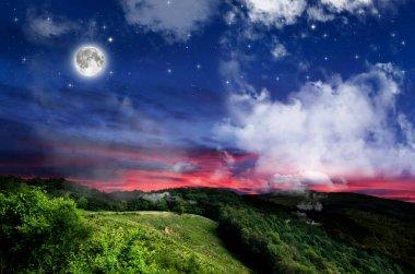 beautiful idyllic Night background