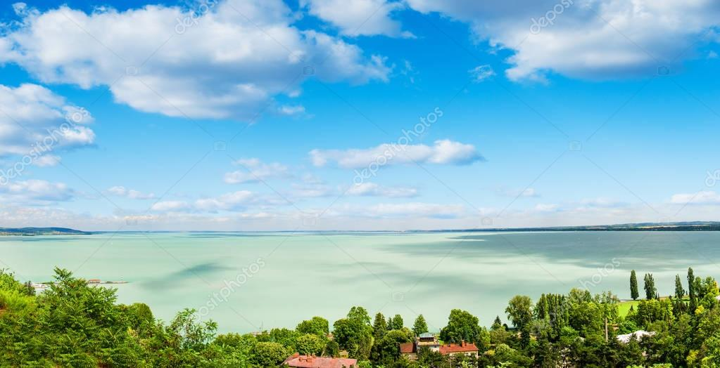 picturesque view of Balaton lake