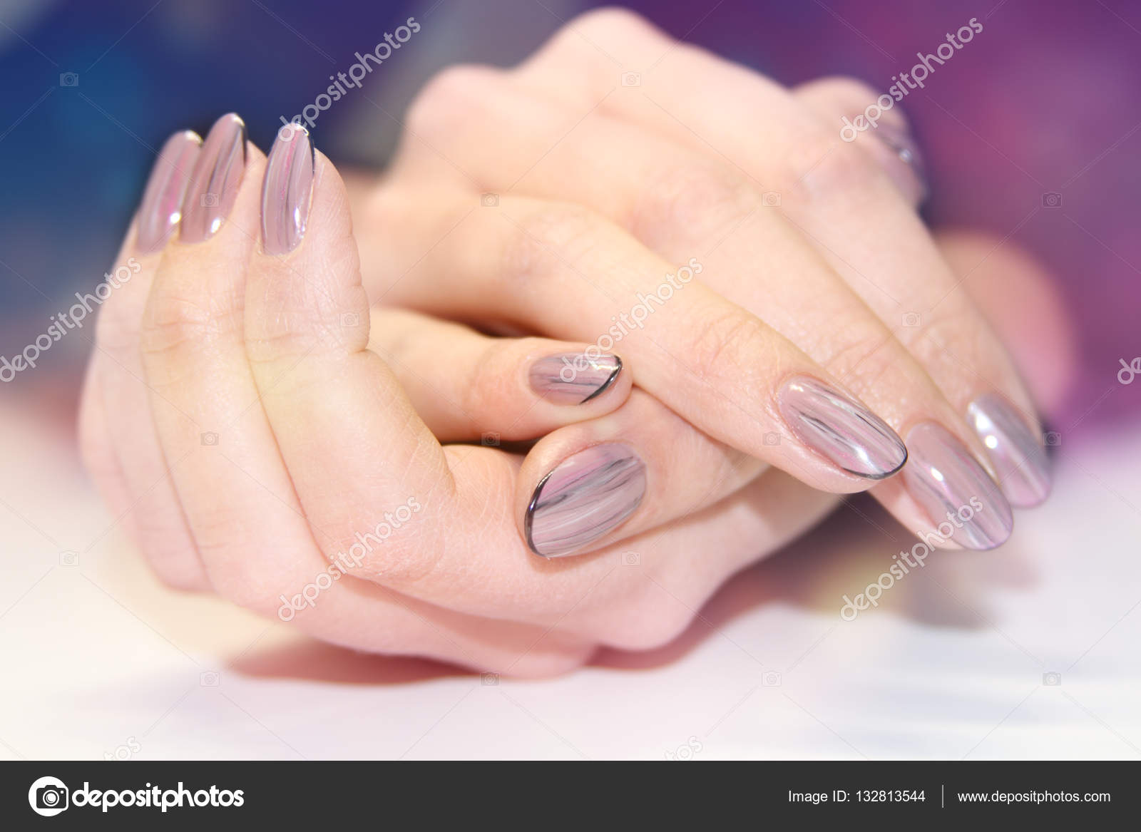 Natural nails. Beautiful nail art for you. — Stock Photo © elena1110 ...