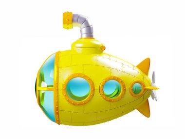 cartoon yellow submarine side