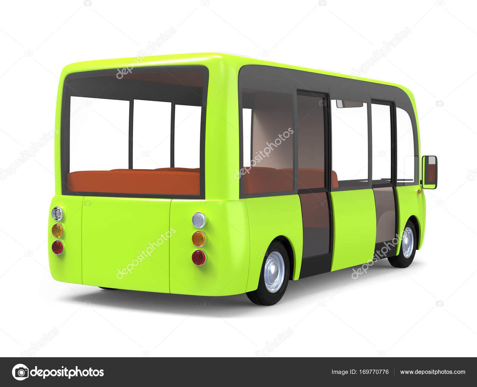 Moderni Kreslene Autobus Zelene Zpet Stock Fotografie C Ilterriorm