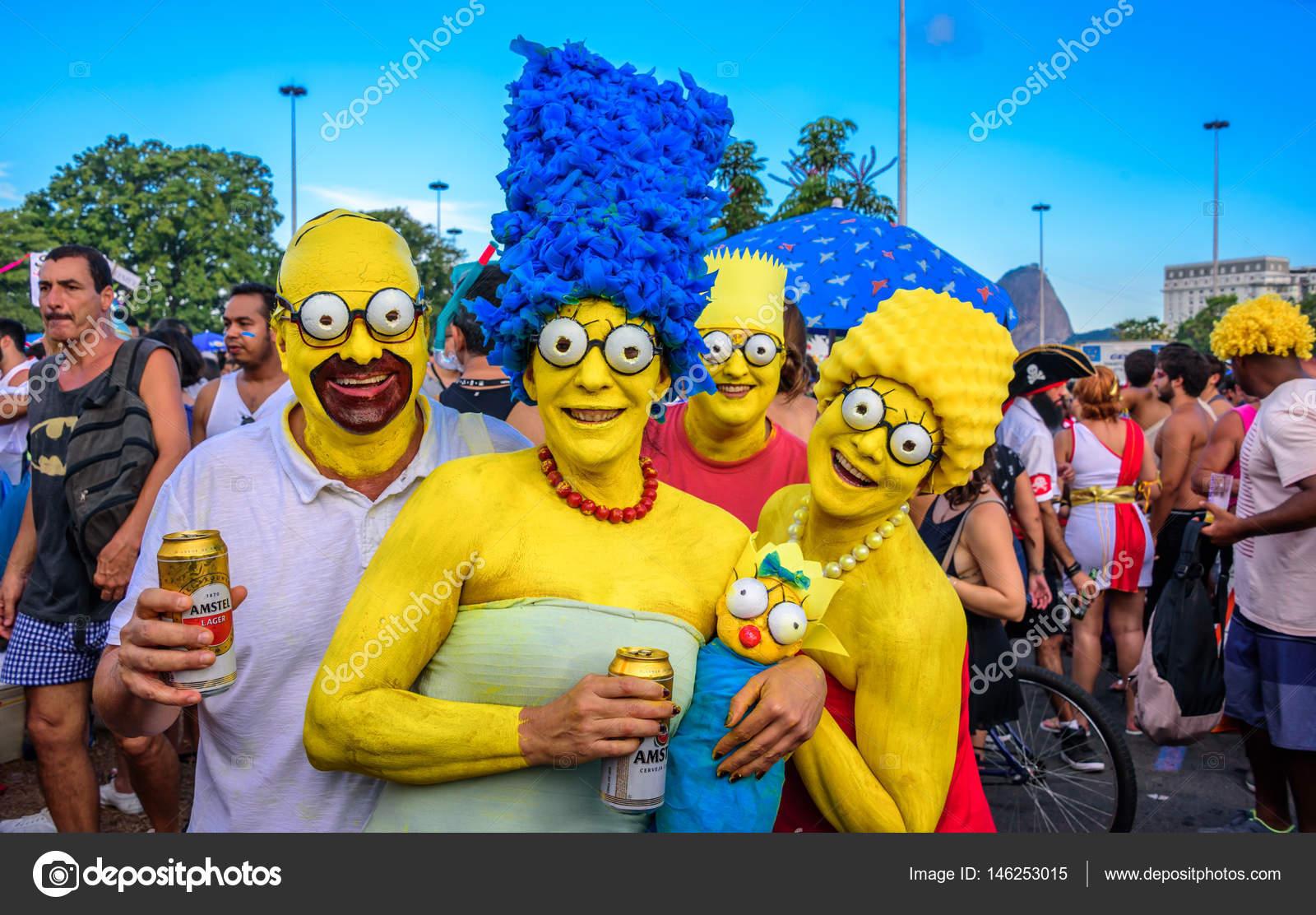 Imagenes La Familia Simpson Disfraces Familia De Los Simpsons - Disfraces-simpsons