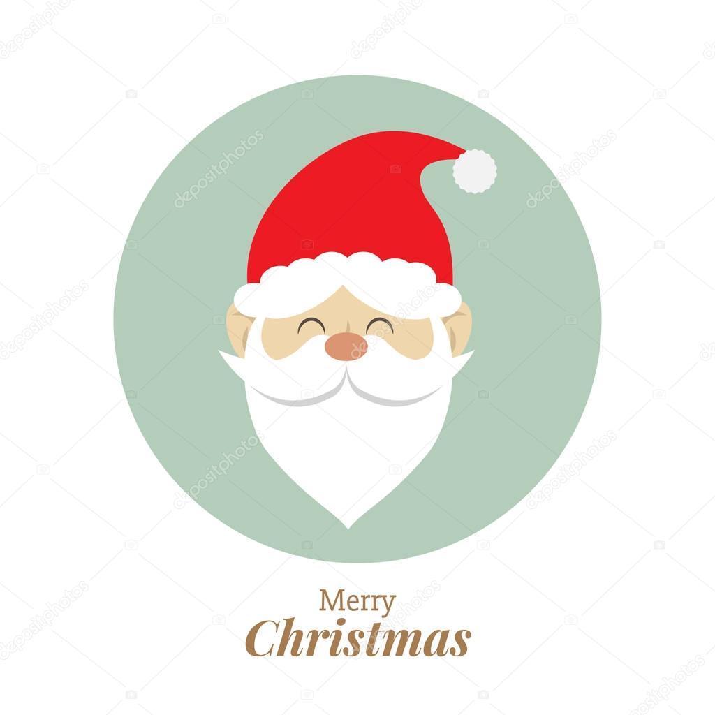 Immagini Viso Babbo Natale.Viso Di Babbo Natale Carino Concetto Di Disegno Di Natale