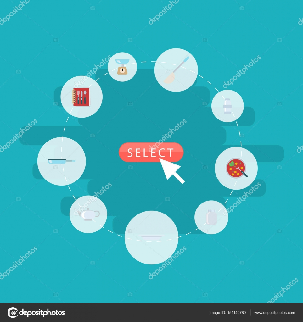 Flat Glass Container, Kitchen Measurement, Spice And Other Vector ...