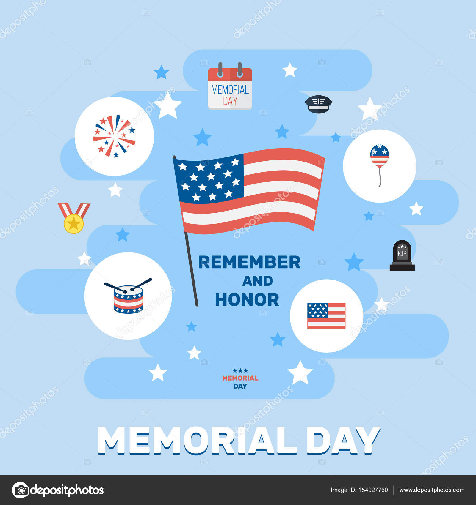 Flat holiday hat tomb and other vector elements set of memorial flat holiday hat tomb and other vector elements set of memorial flat symbols biocorpaavc Images