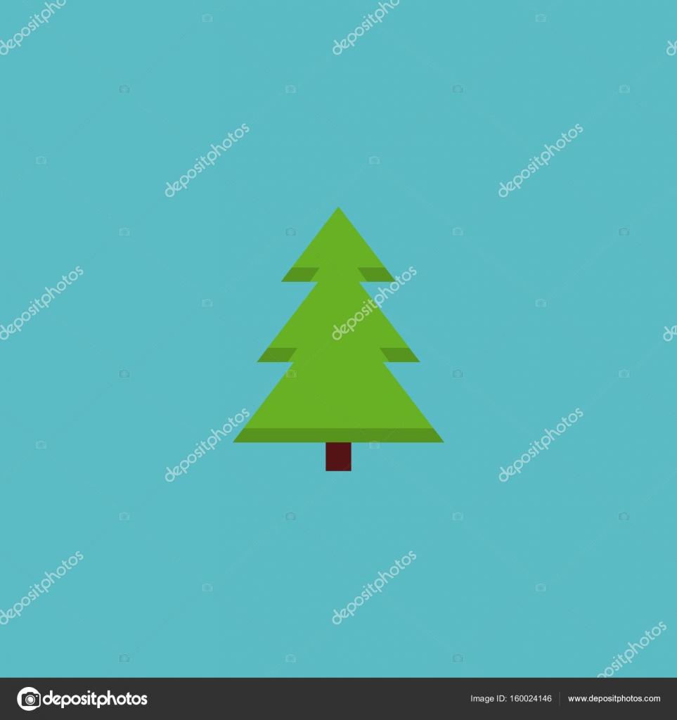 Flat Icon Spruce Element Vector Illustration Of Flat Icon Tree