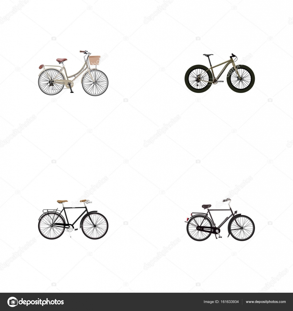 Realistic Training Vehicle Brand Fashionable Vector Elements Set