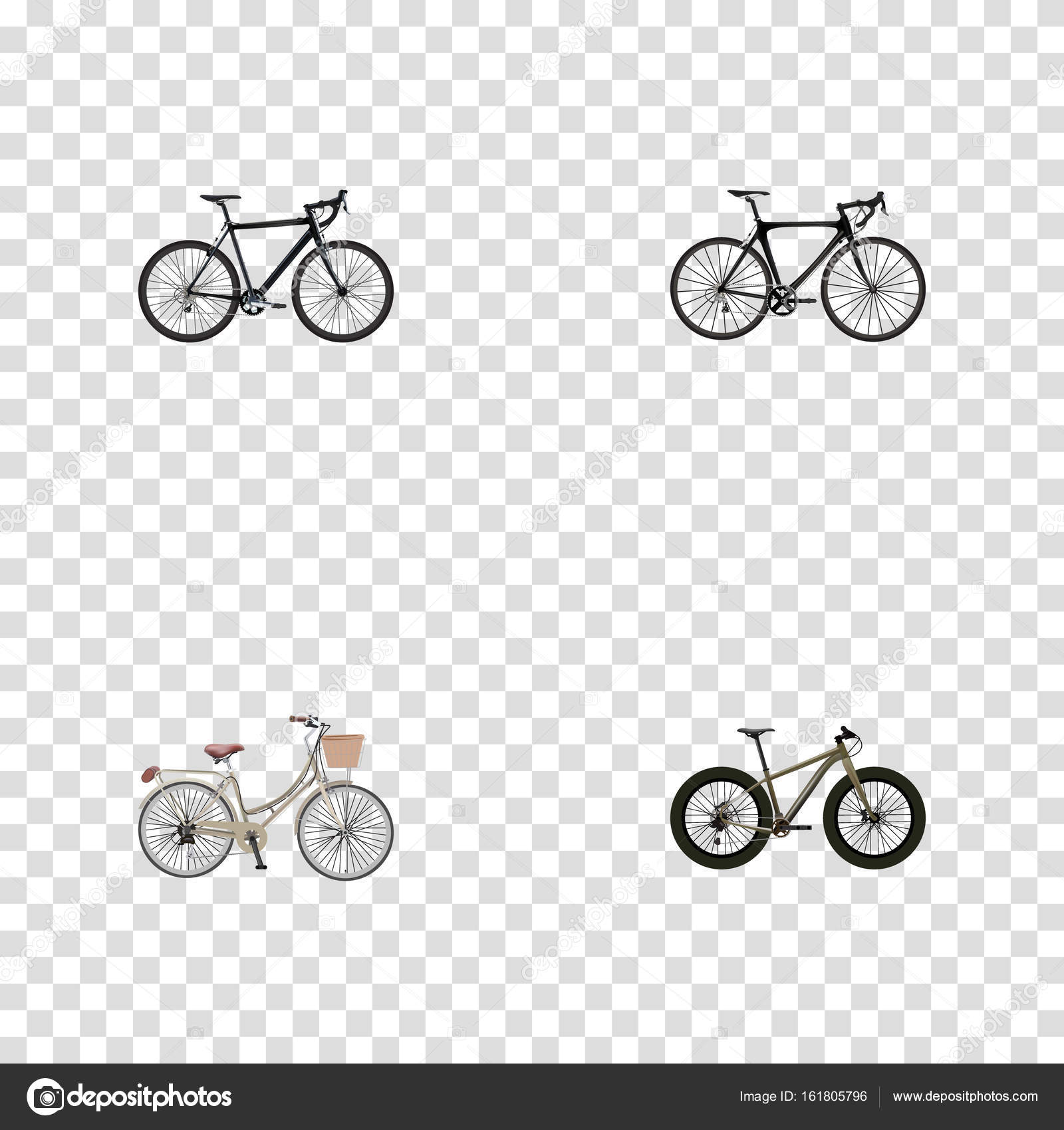 Realistic Brand Exercise Riding Cyclocross Drive Vector Elements