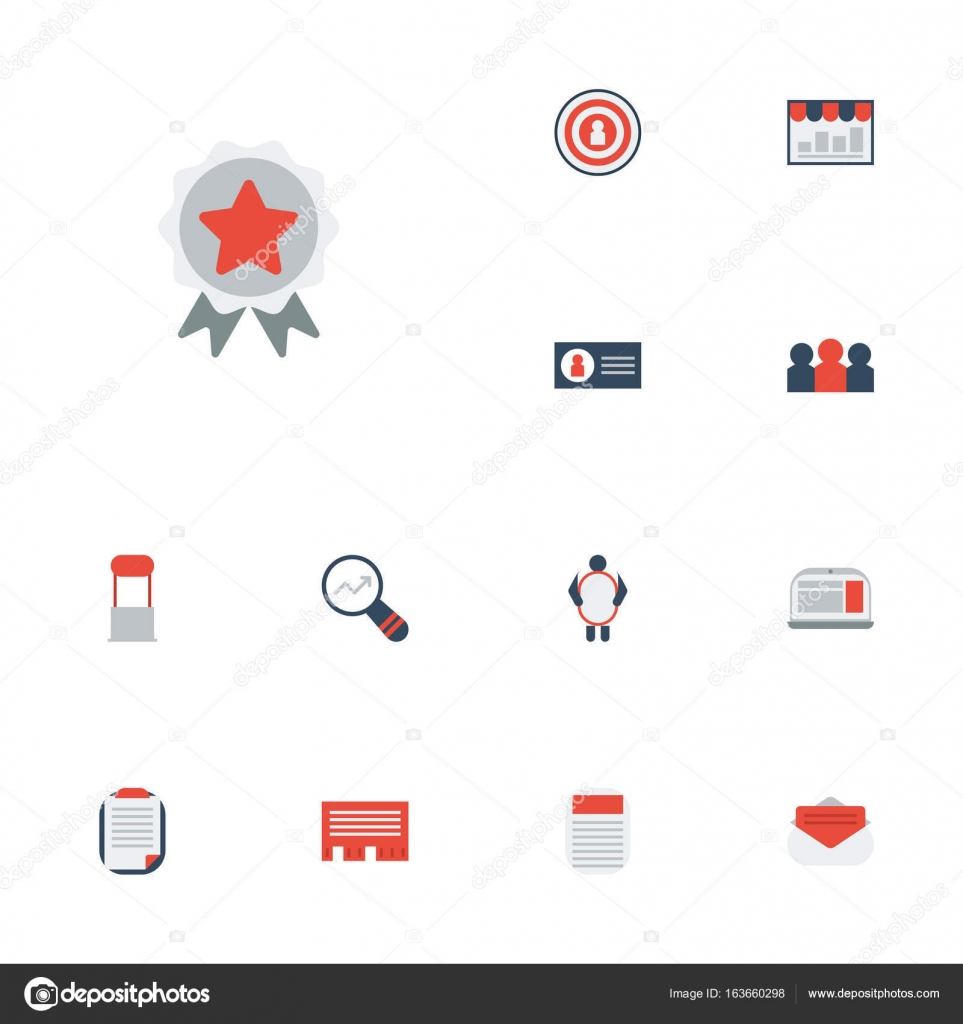 Flat Icons Journal Market Message And Other Vector Elements Set
