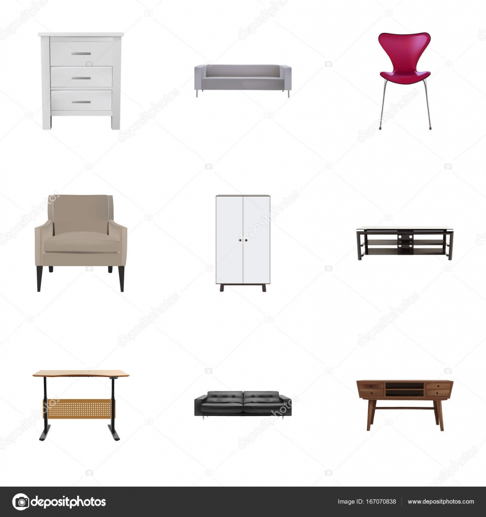 Fine Realistic Worktop Commode Divan And Other Vector Elements Cjindustries Chair Design For Home Cjindustriesco