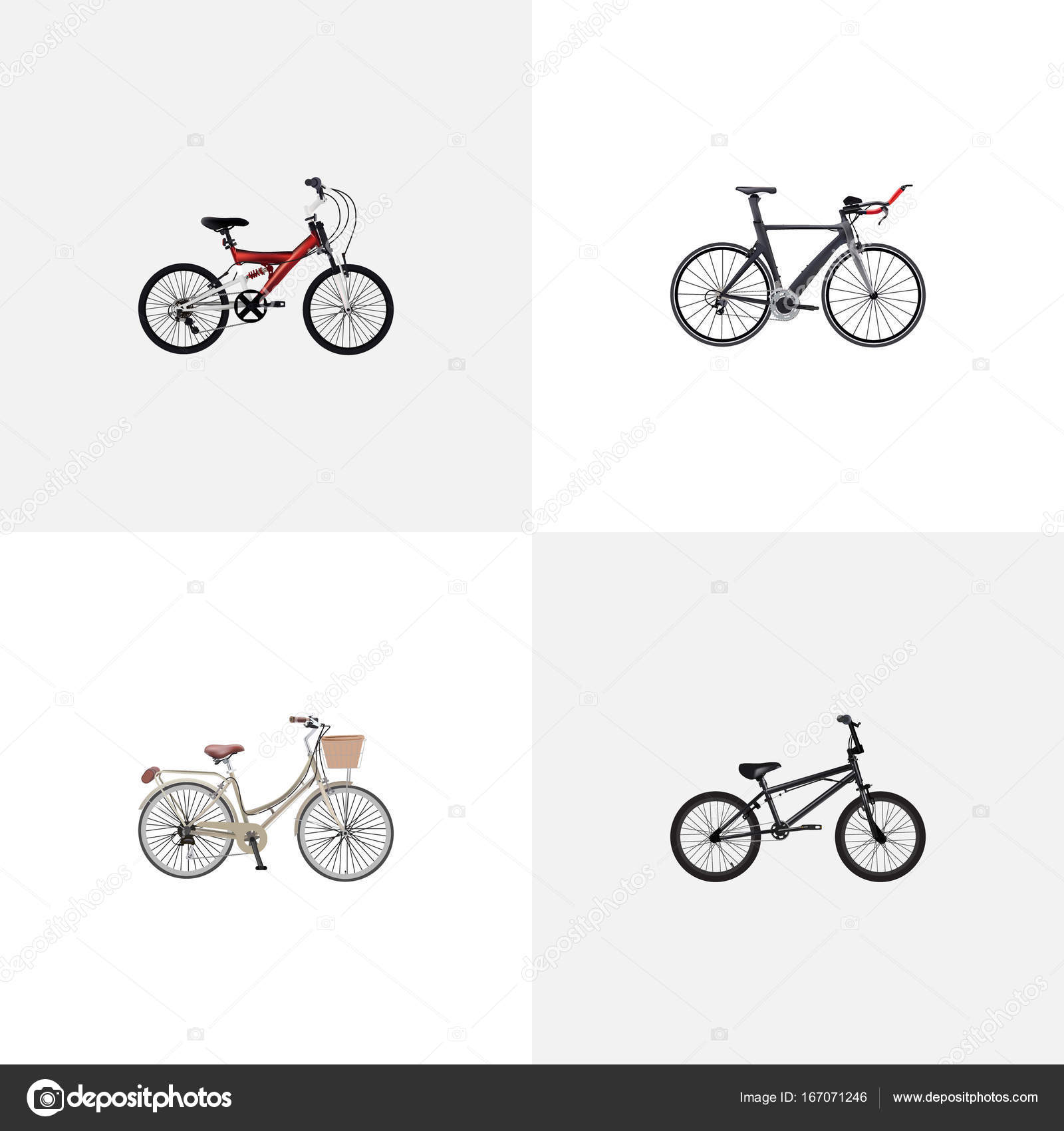 Realistic competition bicycle extreme biking adolescent and realistic competition bicycle extreme biking adolescent and other vector elements set of bike biocorpaavc Images