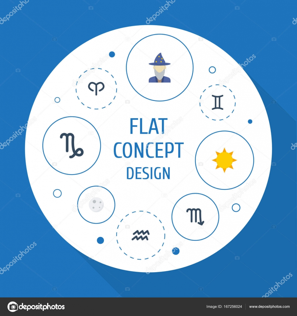 Flat icons twins water bearer lunar and other vector elements flat icons twins water bearer lunar and other vector elements set of galaxy pooptronica Image collections