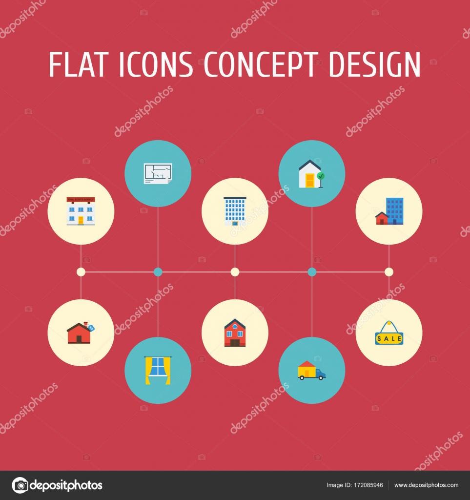 Escolha cones plana casa imveis e outros elementos do vetor escolha cones plana casa imveis e outros elementos do vetor conjunto de smbolos ccuart Gallery