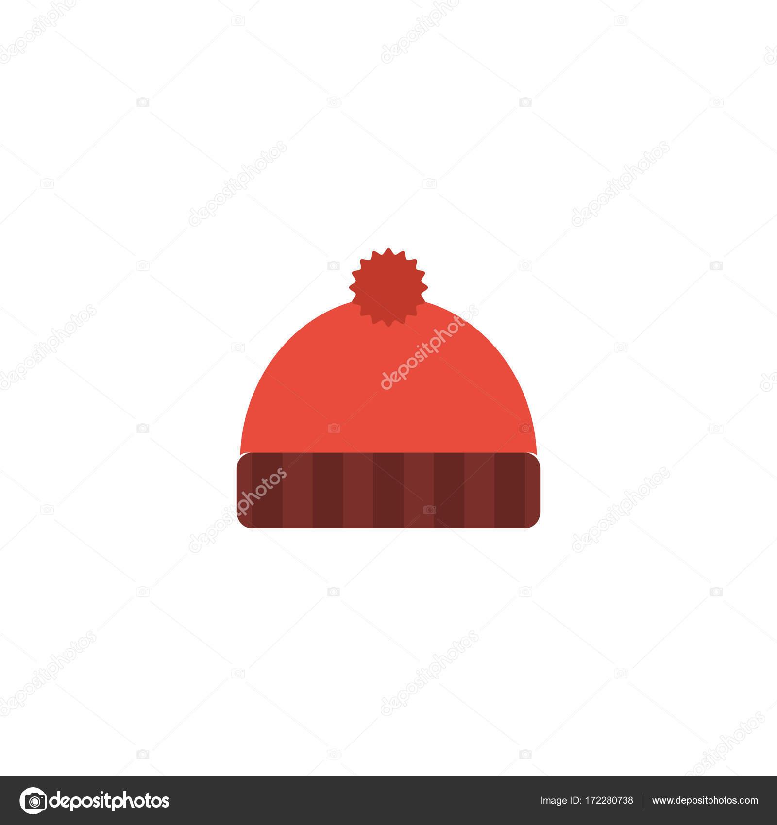 Elemento de sombrero hecho punto plano del icono. Vector ilustración ...