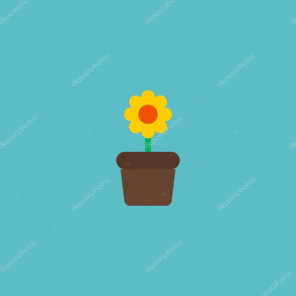 Icon flat flowerpot element. Vector illustration of icon flat plant pot isolated on clean background. Can be used as flowerpot, plant and houseplant symbols.