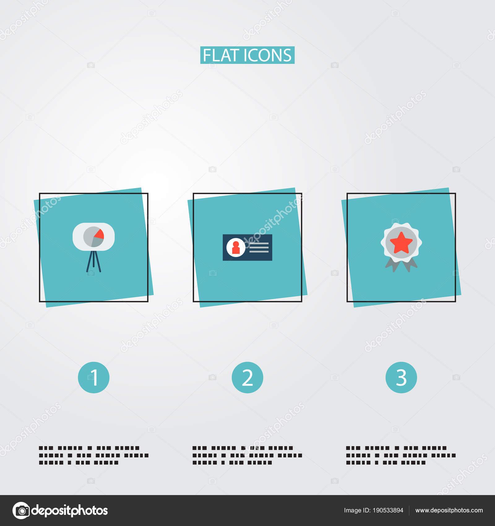 De Plat Style Icnes Marketing Campagne Carte Visite Des Sensibilisation Marque Pour Votre Cration Logo Web Application Mobile
