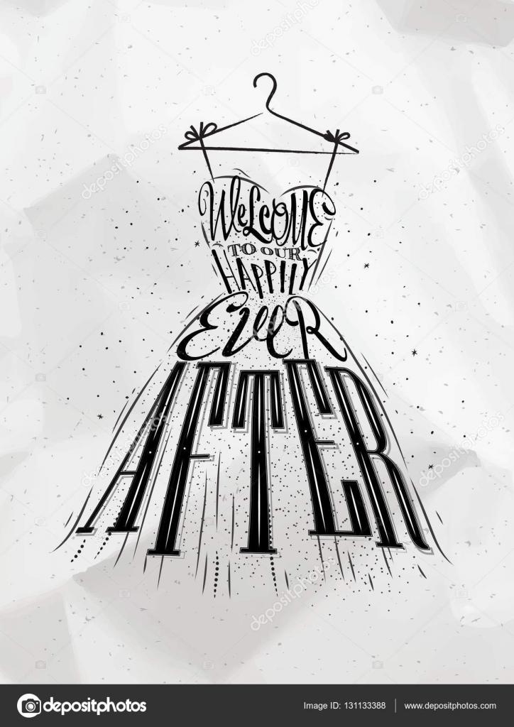 vestido de novia de cartel — vector de stock © anna42f #131133388