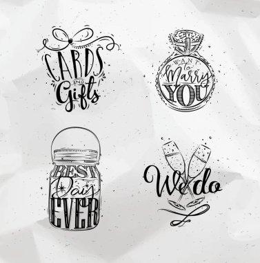 Wedding symbols coal