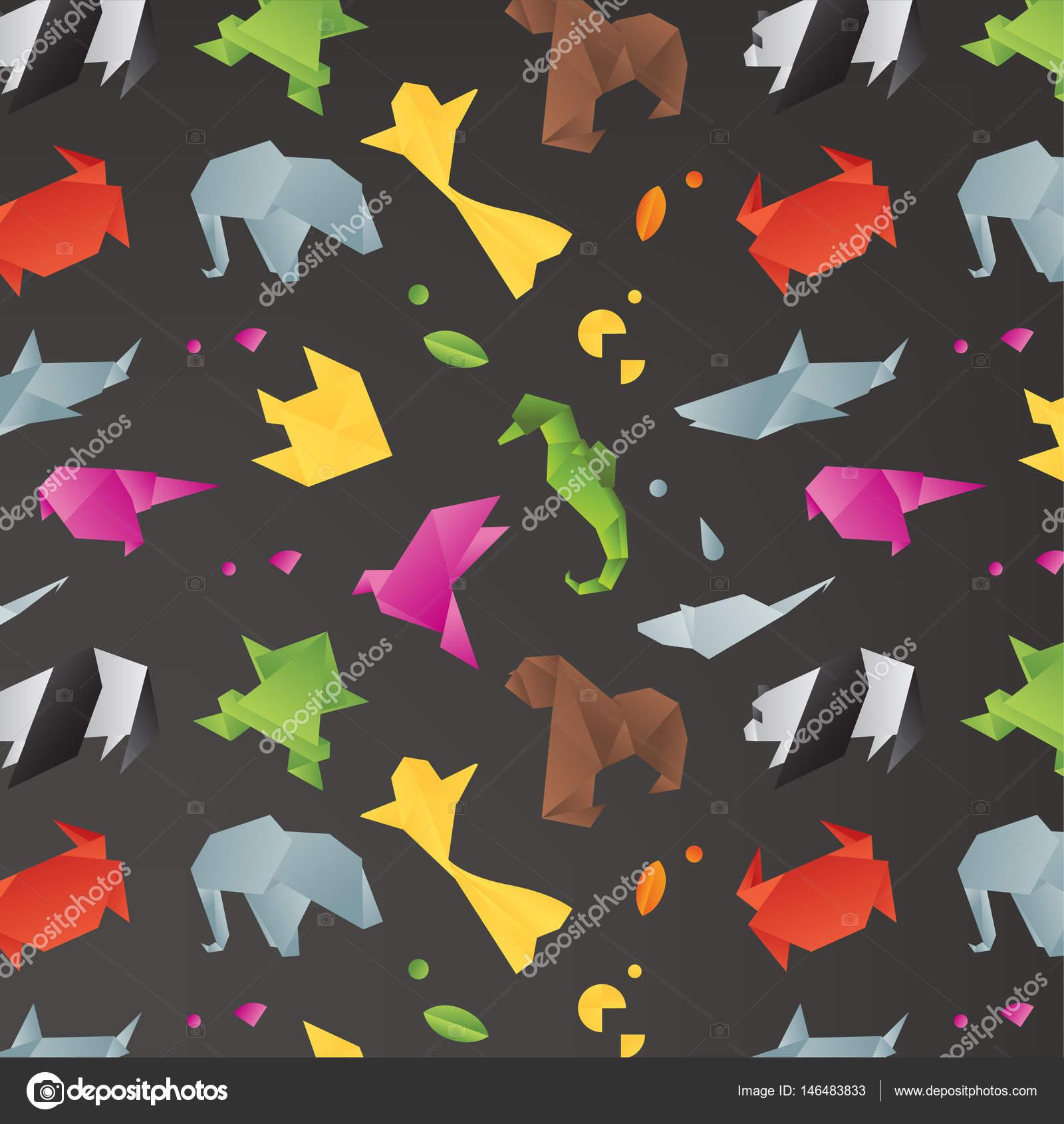 mod le d origami animaux noir image vectorielle anna42f. Black Bedroom Furniture Sets. Home Design Ideas