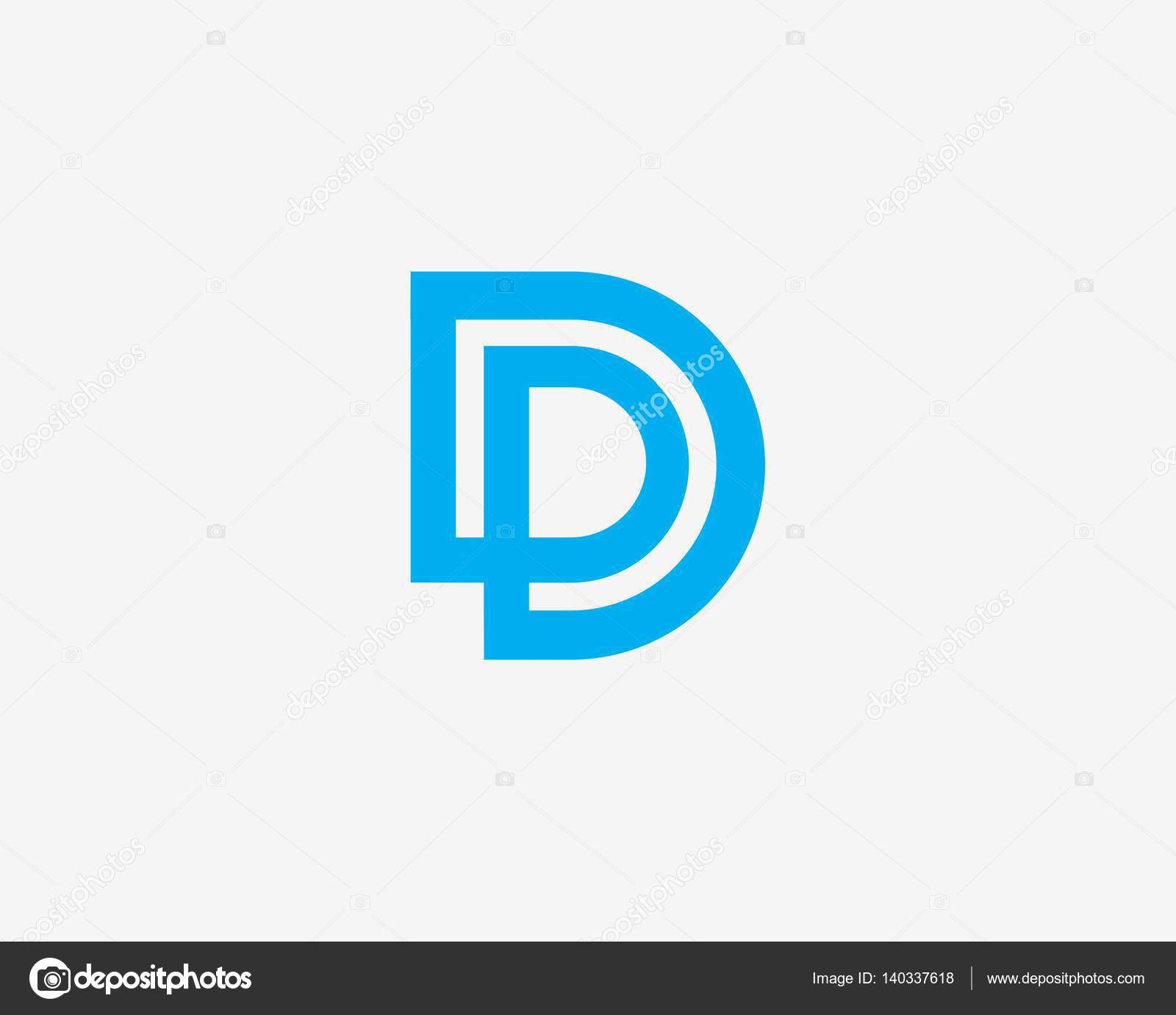 letter d logo design abstract logo icon design template